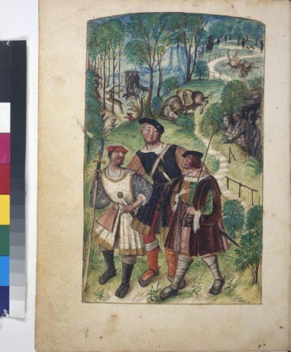 Cod. 3441, fol. 4v: La couronne margaritique autrement le triomphe d'honneur