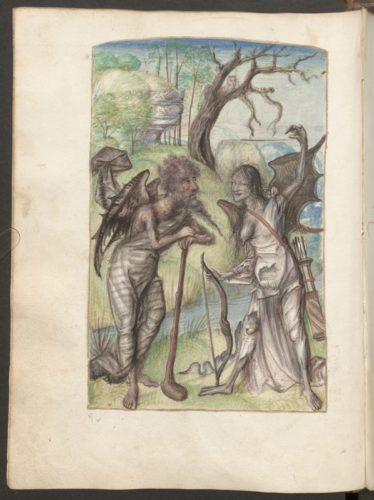 Cod. 3441, fol. 9v: La couronne margaritique autrement le triomphe d'honneur